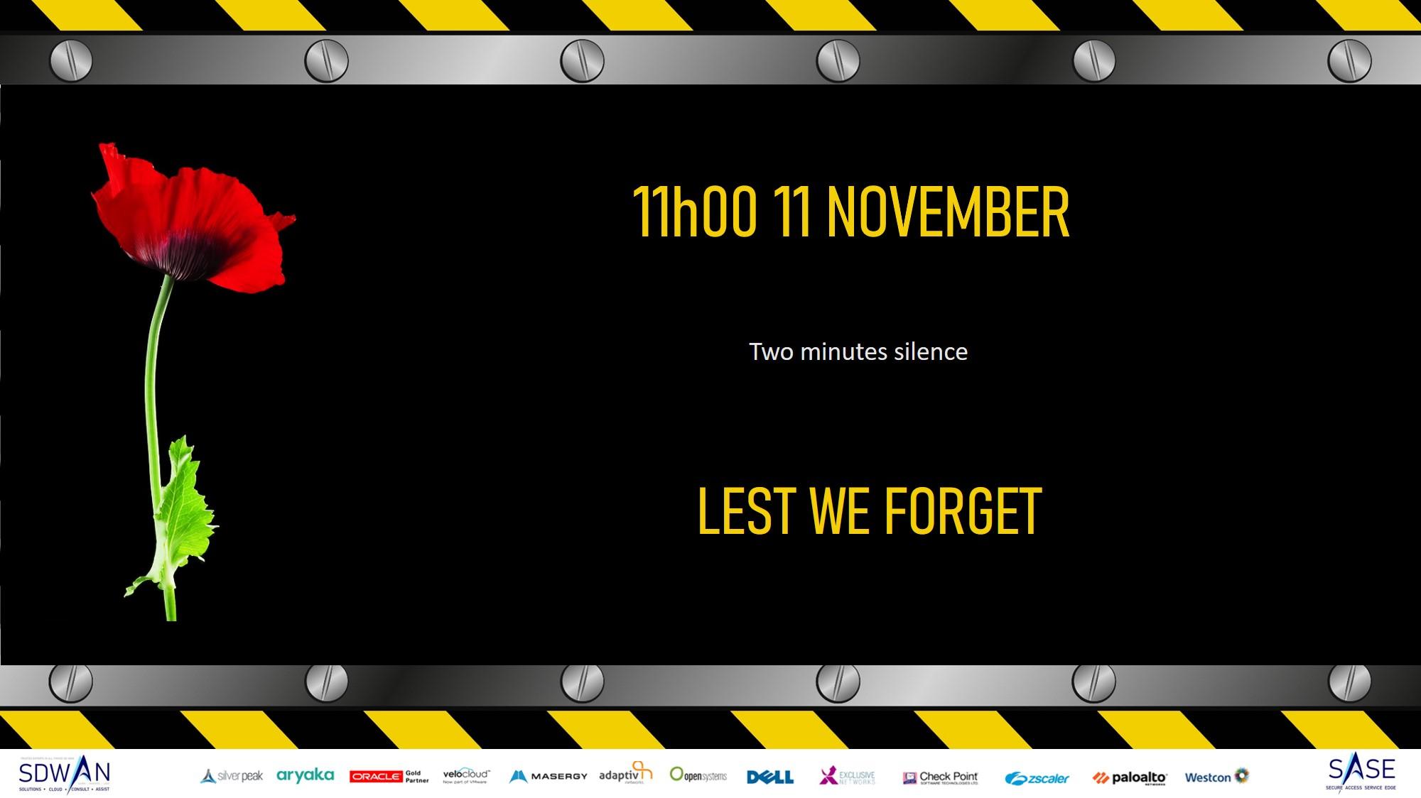 Lest we forget 11 November