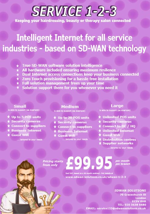 SDWAN 1-2-3 SERVICE INDUSTRY only from SDWAN SOLUTIONS with complete SD-WAN solutions starting from £99.95 pm