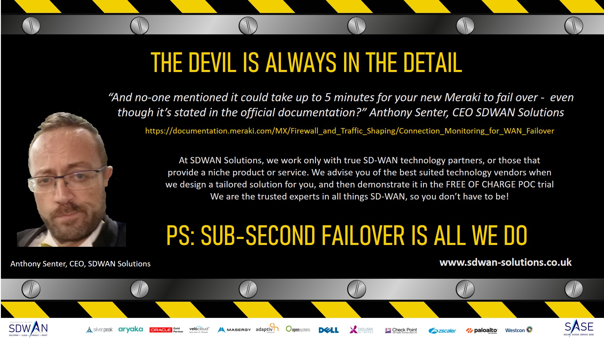 The Devil is in the detail = SD-WAN and SaSe