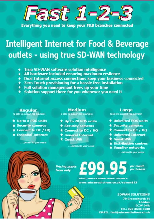 SDWAN 1-2-3 FOOD AND BEVERAGE SDWAN SOLUTIONS