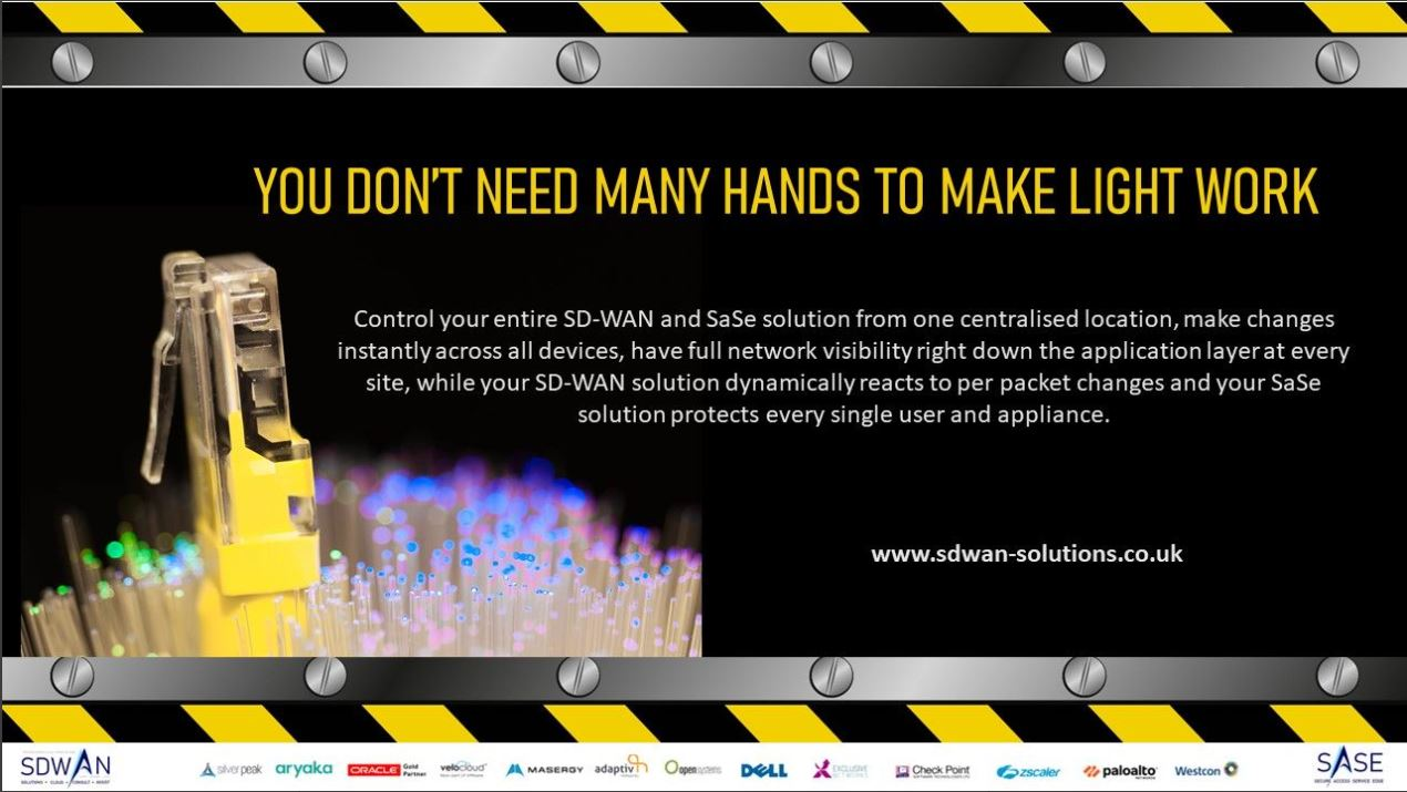 SD-WAN gives you visibility over your entire network, from a central location